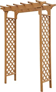 Convenience Concepts Deluxe Garden Arbor, Light Oak