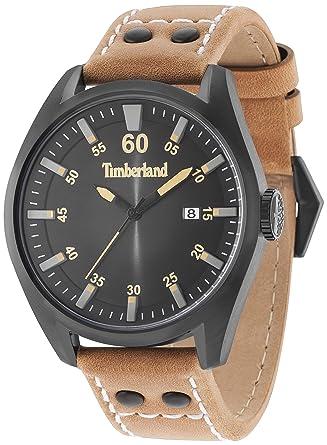 Timberland Reloj Analógico para Hombre de Cuarzo con Correa en Cuero TBL15025JSB.02A: Amazon.es: Relojes
