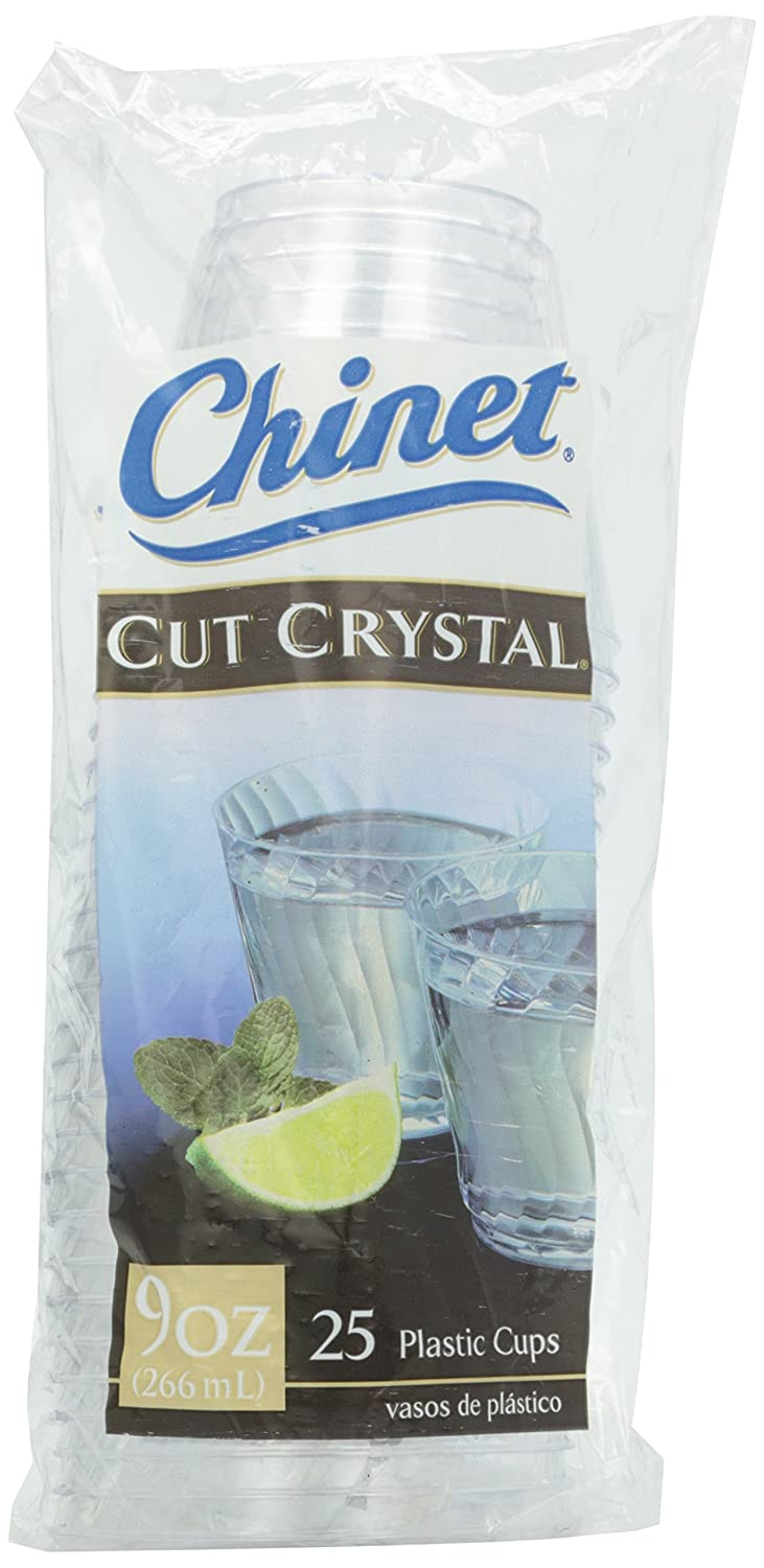Amazon Com Chinet Cut Crystal Cups 25 Ct Grocery Gourmet Food