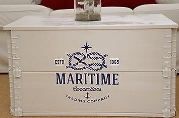 Uncle Joe S Truhe Maritime Couchtisch Truhentisch Im Vintage Shabby