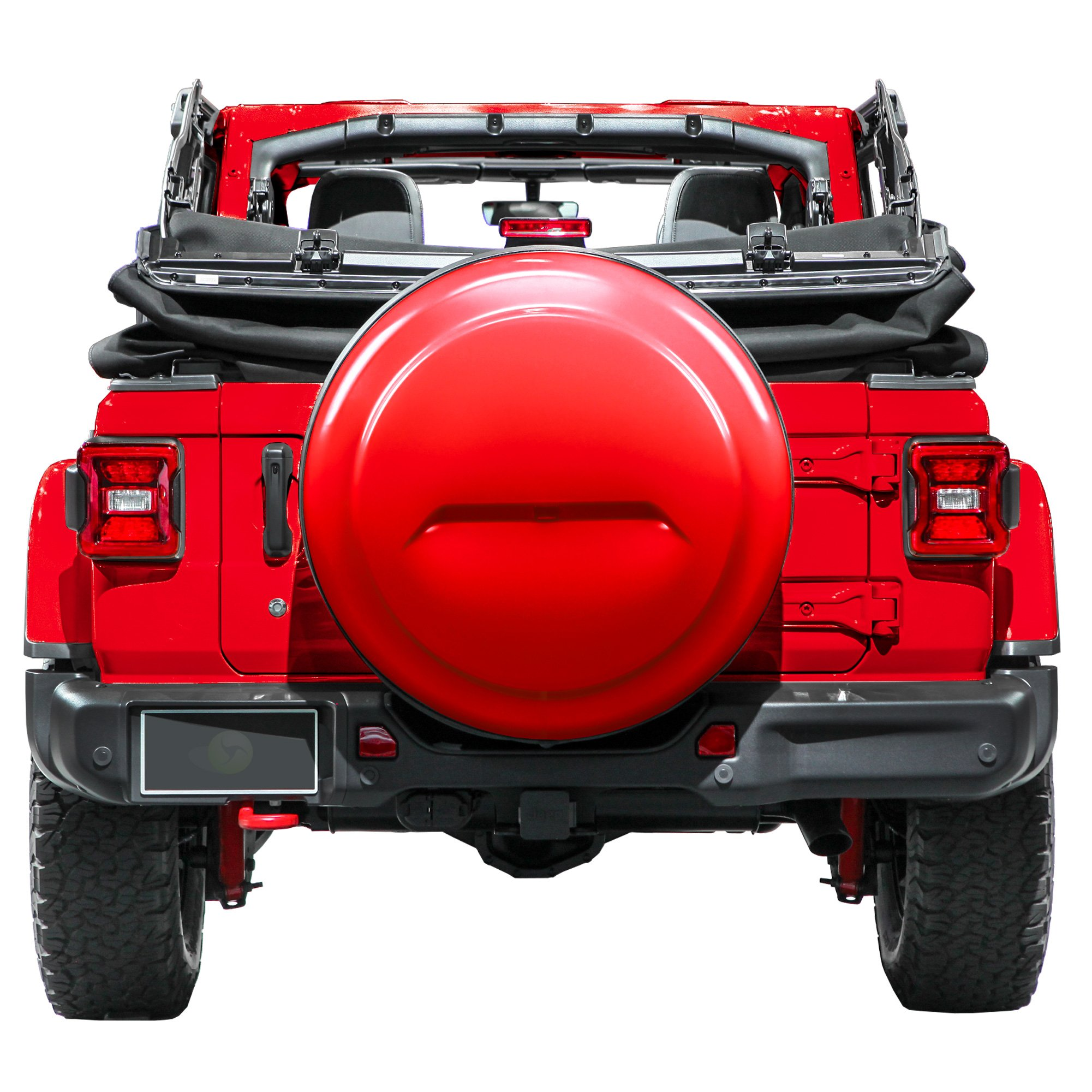 Boomerang 2018 Jeep Wrangler JL & JLU - 32'' Color Matched Rigid Tire Cover (Plastic Face & Vinyl Band) - Firecracker Red