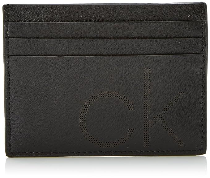 Calvin Klein Jeans - Ck Point Cardholder, Carteras Hombre, Negro (Black),