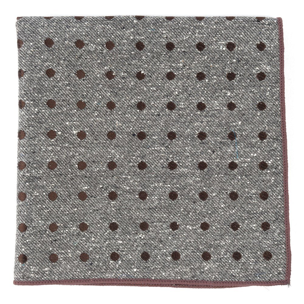 The Tie Bar Revolve Dots 100/% Spun Silk Pocket Square