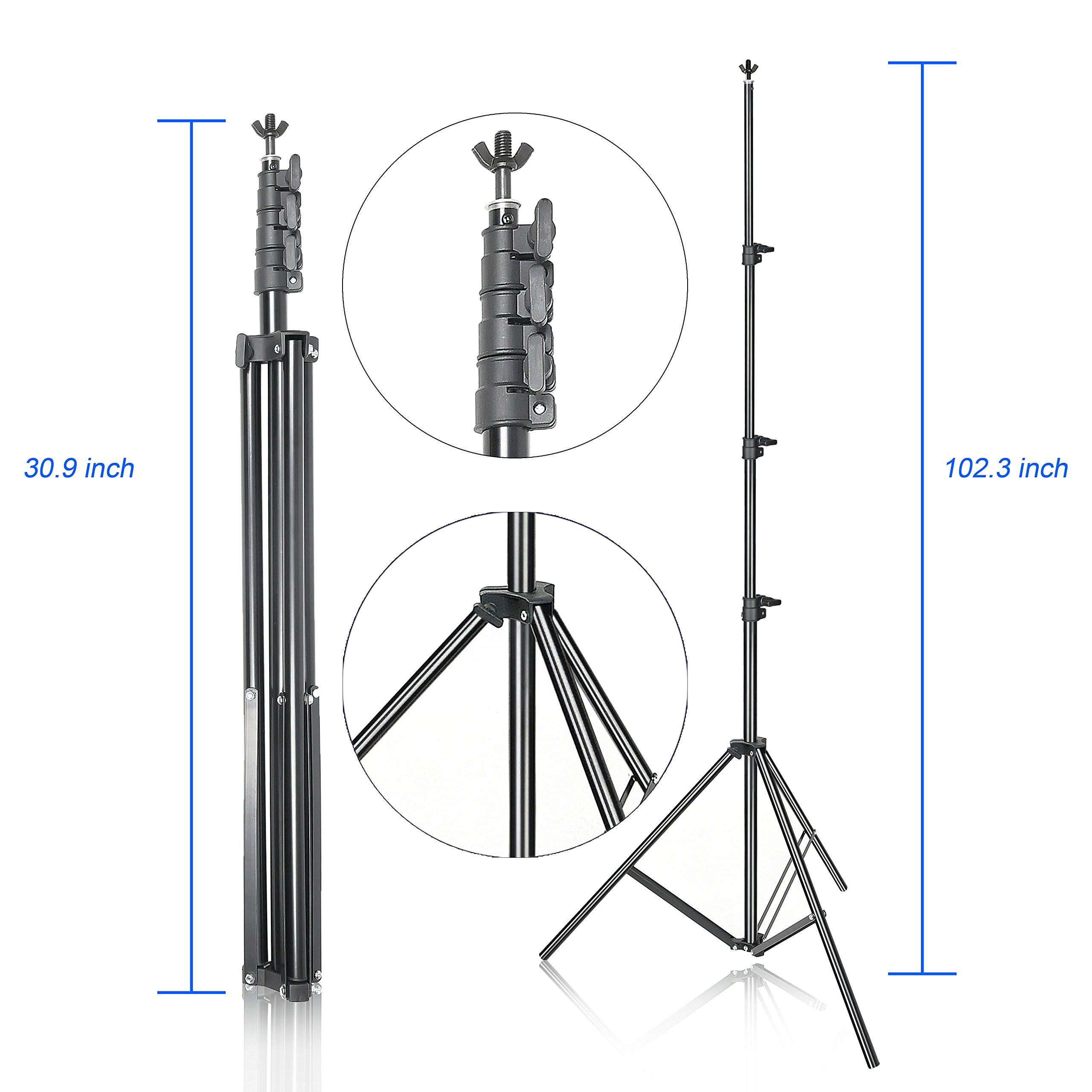 Emart Photo Backdrop Stand, 8.5 x 10Ft Photography Background Stand Support System Kit for Video Studio Photo Booth Props Muslin by EMART (Image #2)