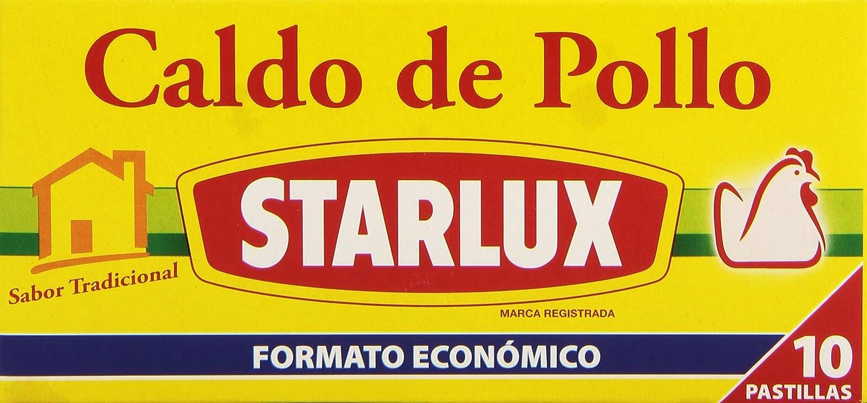 Knorr -Starlux  Caldo Pastilla De Pollo  10P - [Pack de 12]