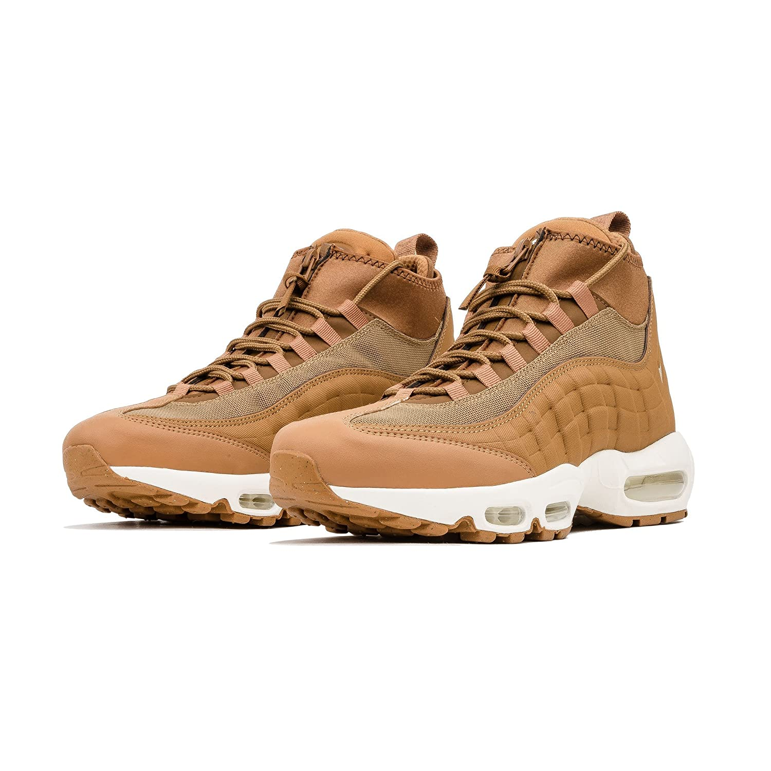 info for 82b31 fe233 Nike Men s Air Max 95 Sneakerboot 806809-201 Flax Flax Ale Brown Sail Boot  (9.5)  Amazon.co.uk  Shoes   Bags