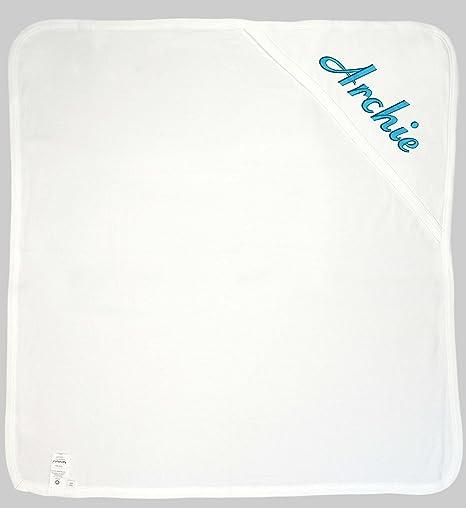 Para bebé con capucha toalla de baño (personalizado) White Blue
