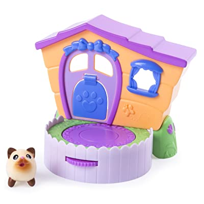 Chubby Puppies & Friends – 2-in 1 Flip N' Play House Playset with Siamese Kitty Collectible Figure: Toys & Games