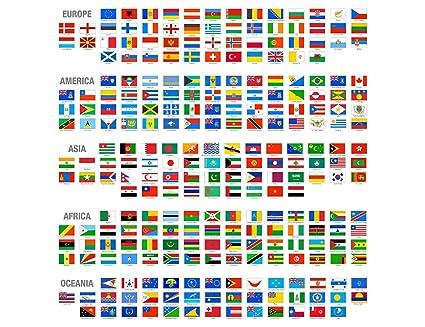 Banderas de paises nombres