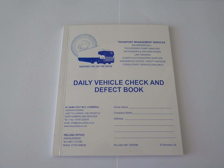 W Hamilton TMS Cumbria Ltd Driver Daily Vehicle Check And Defect Book(T20)  truck,wagon