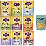 Yogi Tea Best Sellers 9 Flavor Variety Pack with Whole Terra Turbinado Sugar (Pack of 9)