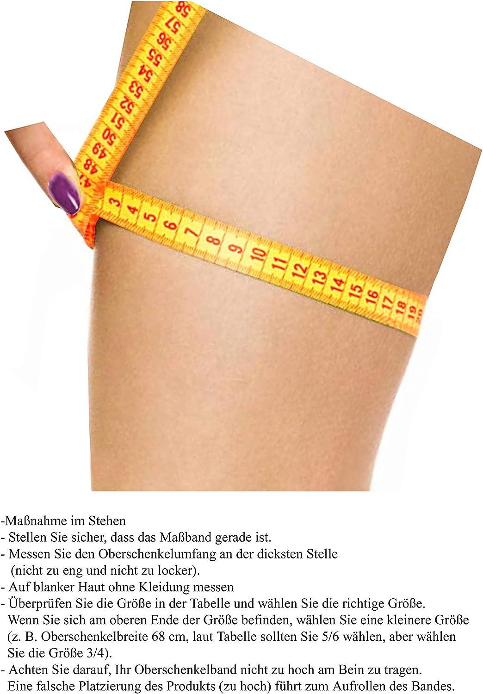 Gabriella Strumpfbend mit breitem mit Silikon gegen Hautirritationen bietet