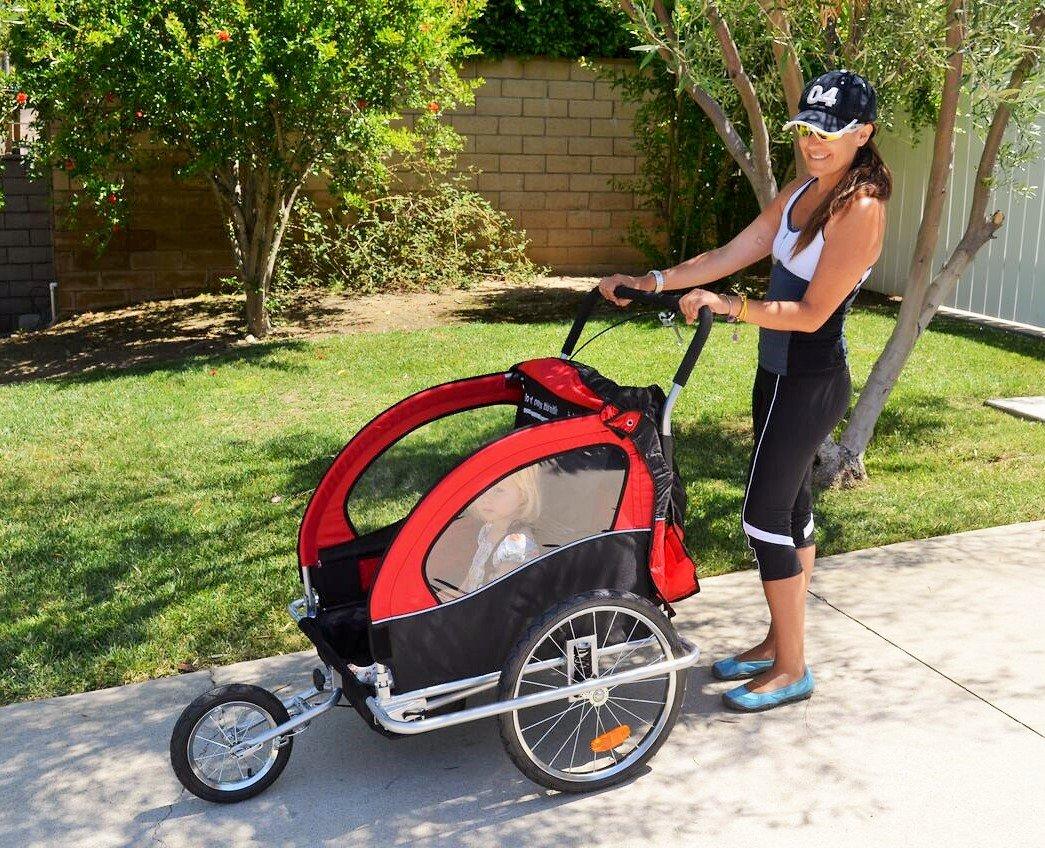Baby Diego Bike Trailer//Jogger Red//Black