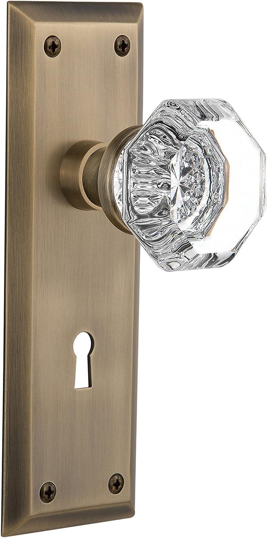Nostalgic Warehouse Popular overseas Rare New York Plate Keyhole Waldorf Crystal with