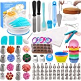 Cake Decorating Supplies Kit - 291 Piece Baking Decorating Tips Set Bakeware Set with Turntable, Spatula, Russian Piping…