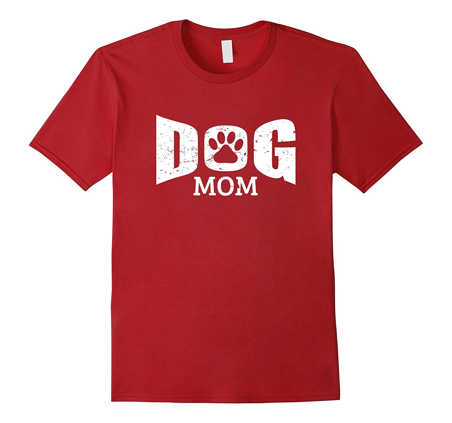 Dog Mom T-Shirt - Dog Mom Bold White Letters Shirt-PL