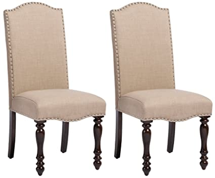 Vintage Wooden Chairs >> Amazon Com Baxton Studio Set Of 2 Zachary Chic French Vintage Oak