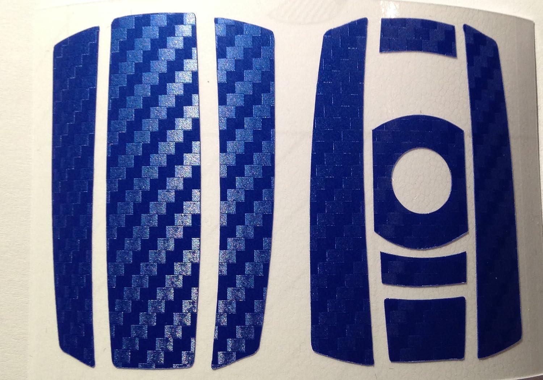 Design-Folien089 Carbon Film Bleu//Motif Cl/és Key