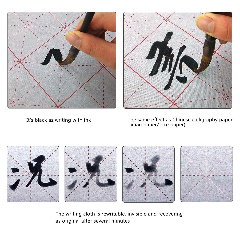set regalo con panno magico per esercizi di calligrafia cinese e quaderno Reamtop riutilizzabile