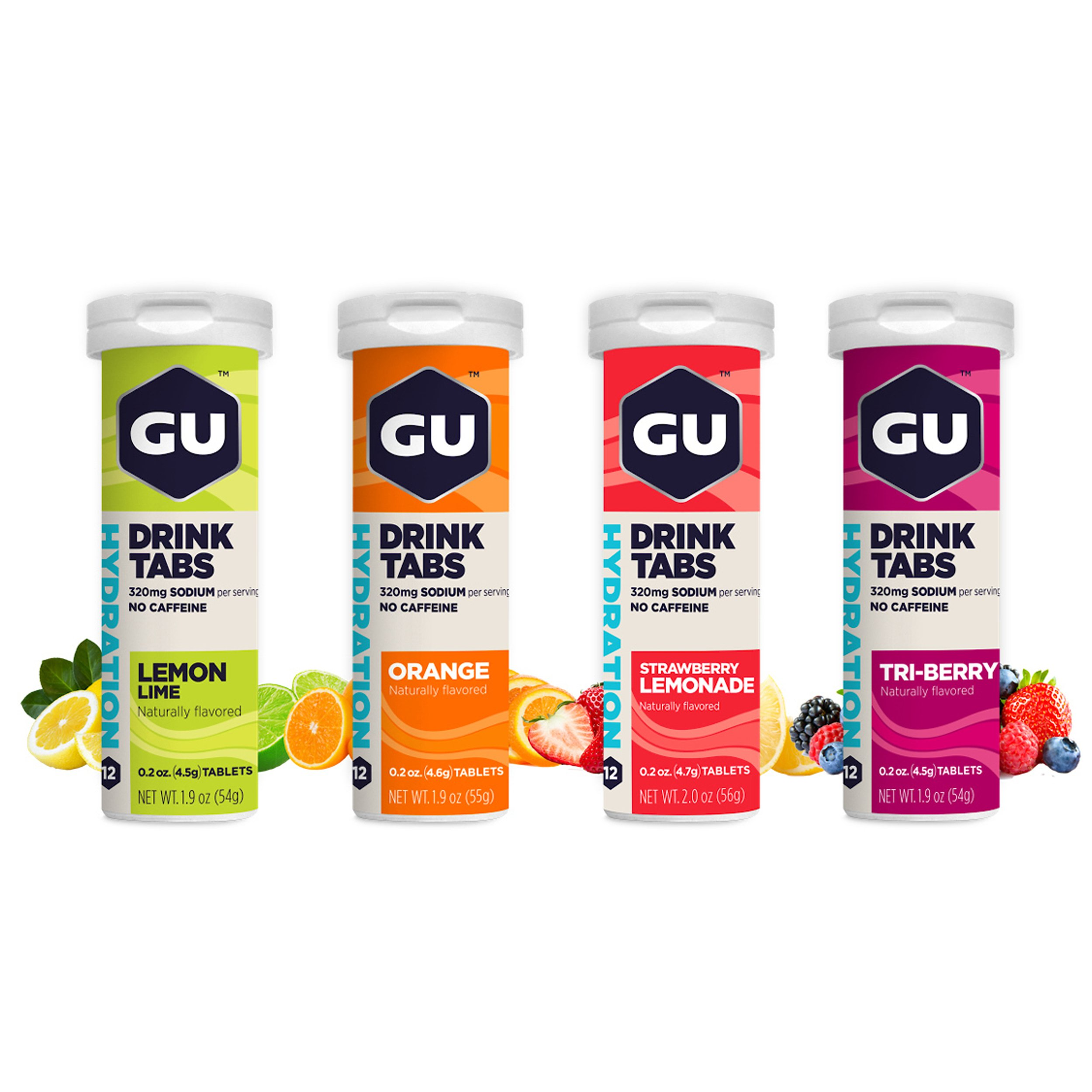 GU Energy Hydration Electrolyte Drink Tablets, Assorted Flavors, 4-Count by GU Energy Labs