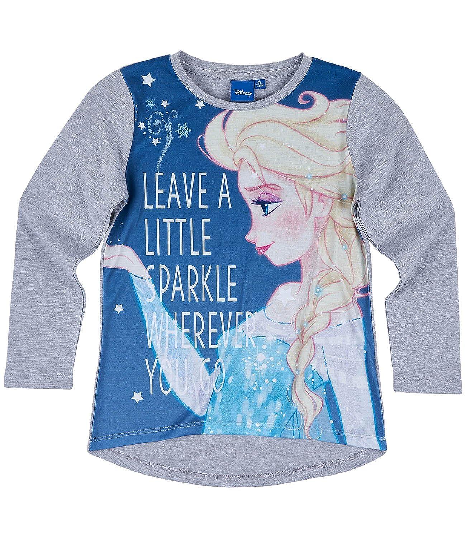 Grigio Disney Frozen Il regno di ghiaccio Ragazze Maglietta Maniche Lunghe