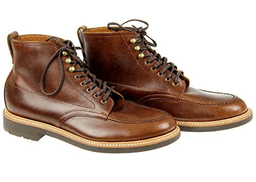 cf8bb1318a4 J Crew Kenton Leather Pacer Boots 9.5 Burnished Tabacco C8867 Def ...