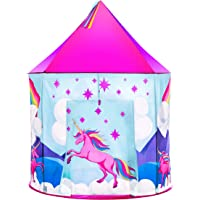 USA Toyz Unicorn Kids Play Tents for Girls and Boys - Unicorn Playhouse Pop Up Princess Tent w/ Unicorn Headband and Tent Carry Tote