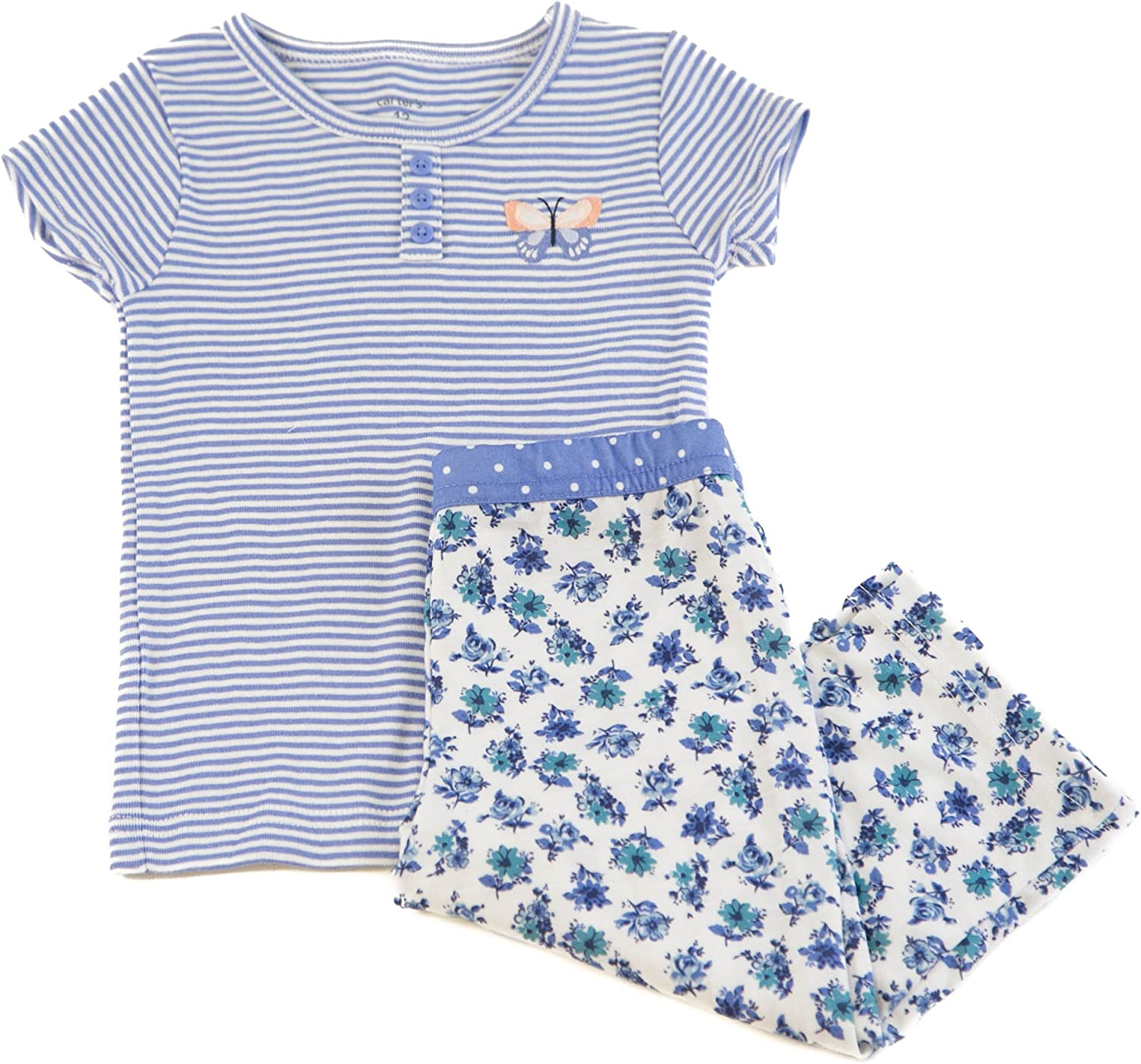 Sizes Available Carters Print Henley Romper Creeper Baby Girl Clothes Pink