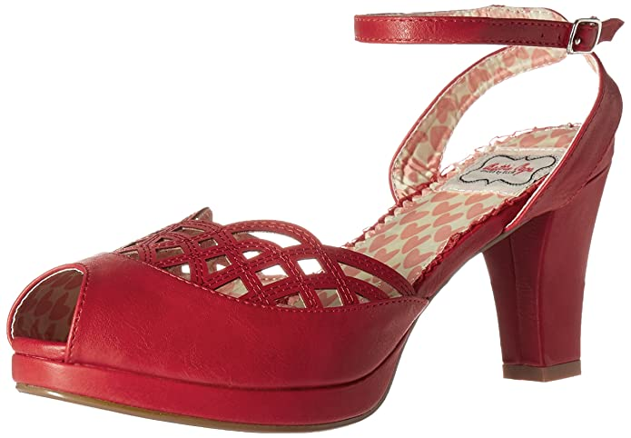 Bettie Page Womens Bp303-Darla Platform Dress Sandal  AT vintagedancer.com