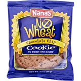 Nana's No Wheat Chocolate Chip Cookies  - No Eggs, Dairy or Wheat - 3.2 Oz Packages - Pack of 12 Vegan Cookies