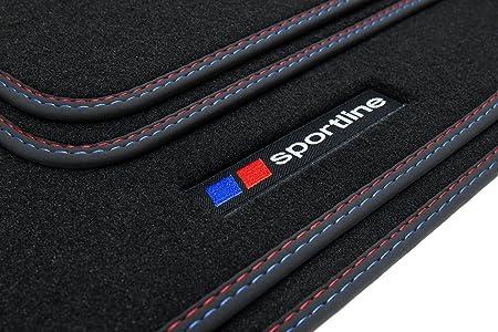 Lettrage et 2X Coutures d/écoratives tuning-art SF009 SPORTLINE Tapis de Sol
