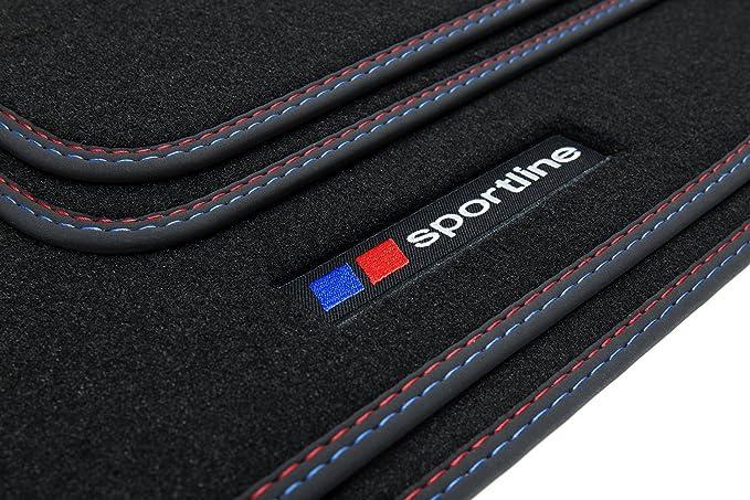 Tuning Art Sf002 Auto Fußmatten Sportline Design Bandeinfassung 2x Ziernähte Auto