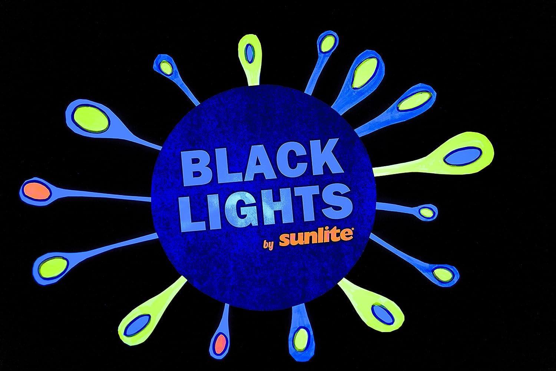 Sunlite SL20//BLB 20 Watt Spiral Energy Saving CFL Light Bulb Medium Base Blacklight Blue 2 Pack