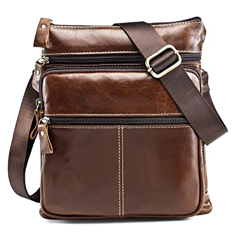 40213f6c66 Borsello Uomo Pelle, Grande Borsa a Tracolla Uomo In Vera Pelle Tipo  Messenger Bag Borsa