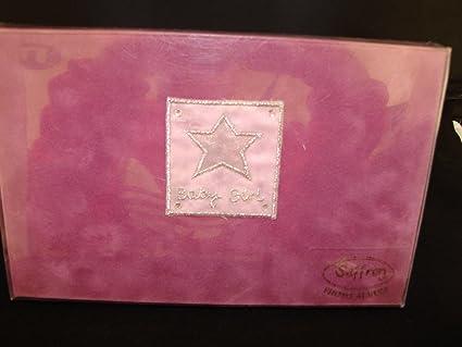 Saffron Pocket Photo Albums Baby Girl Star Pink Amazon Co