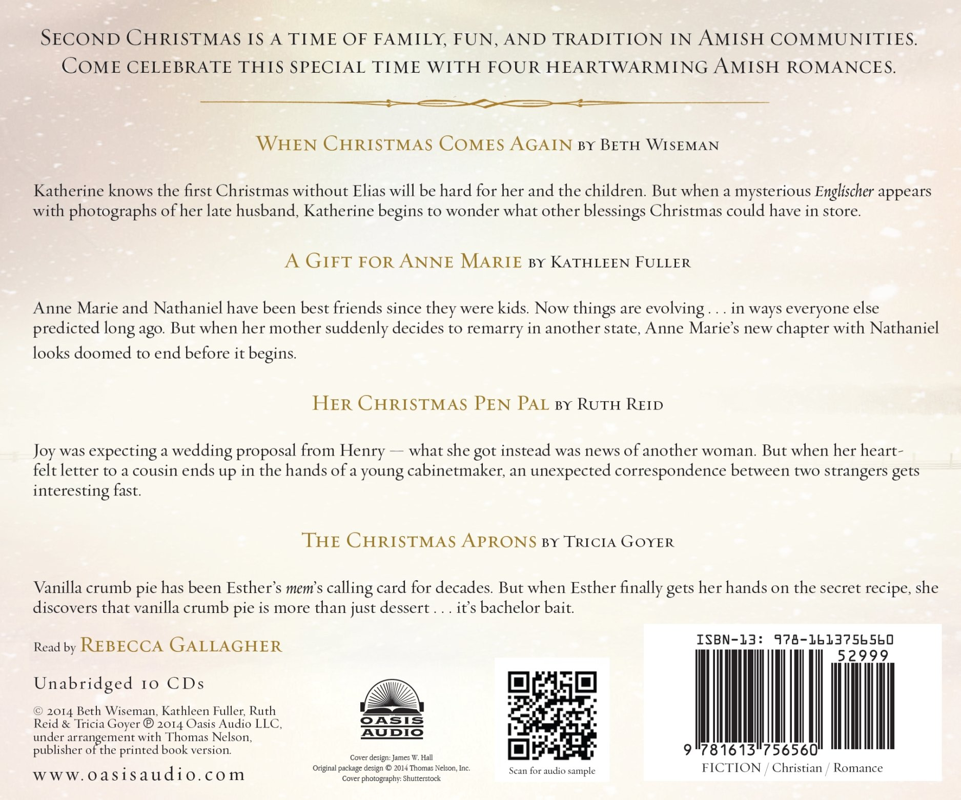 An Amish Second Christmas Beth Wiseman Kathleen Fuller Ruth Reid