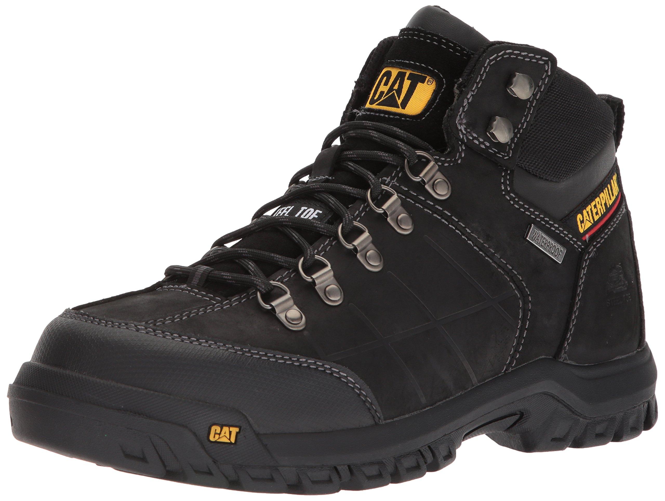 Caterpillar Men's Threshold Waterproof Steel Toe Industrial Boot, Black, 10.5 M US