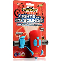 Mini Hornit - Bike & Scooter Horn and Light for Children and Kids - 25 Sound effects / 5 Lights (Red)