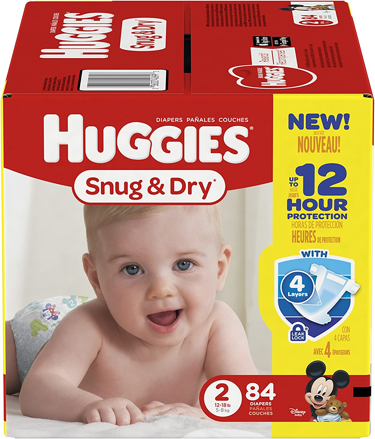 Huggies Snug and Dry Diapers - Size 2-84 ct