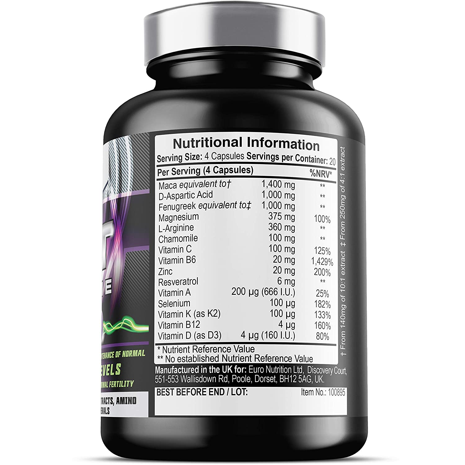 PCT Xtreme - 80 Capsules | Post Cycle Support supplement, with DAA,  Resveratrol & Zinc which contributes to Normal Testosterone Levels |  Exclusively