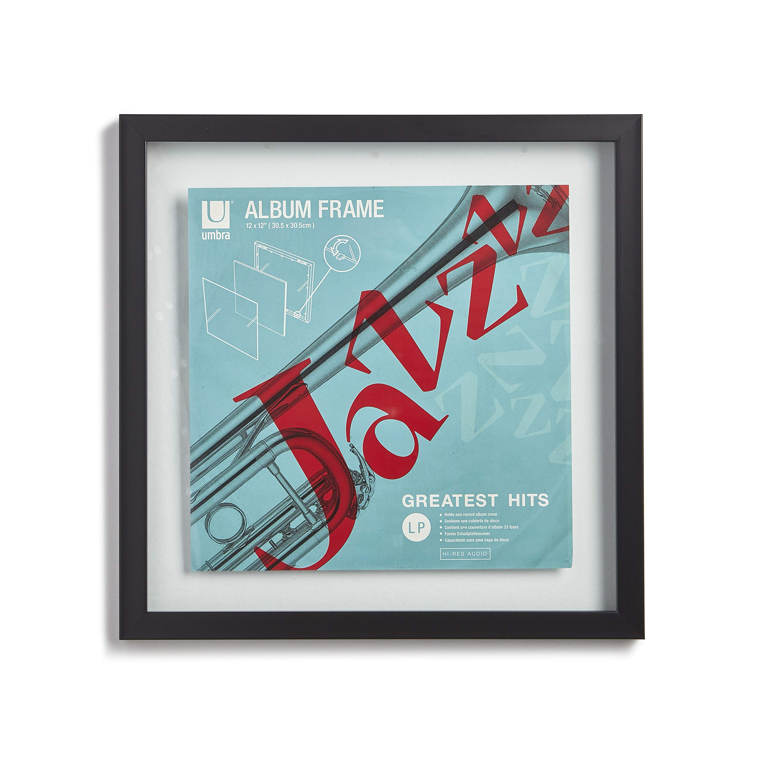 Umbra Record Album Frame 14-1/2x14-1/2-Inch, Modern Picture Frame Designed to Display a Floating 12-Inch by 12-Inch Album Cover by Umbra (Image #13)