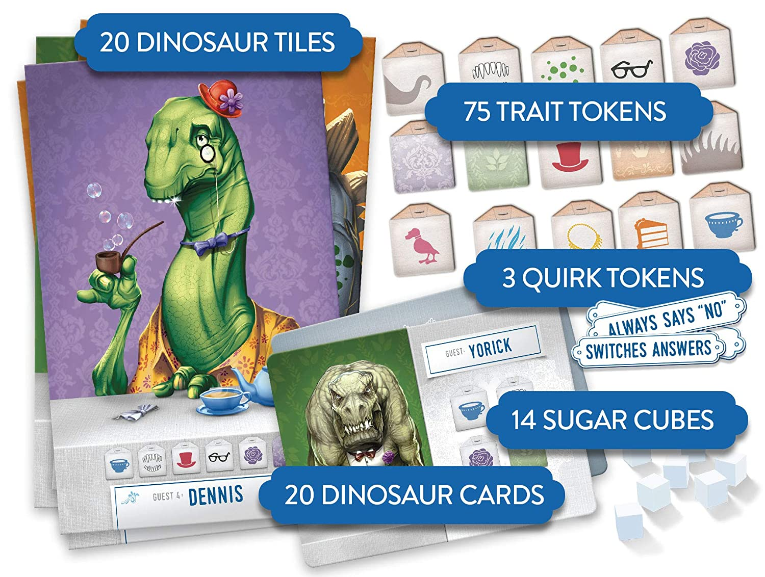 Amazon.com: Dinosaur Tea Party Board Game: Toys & Games