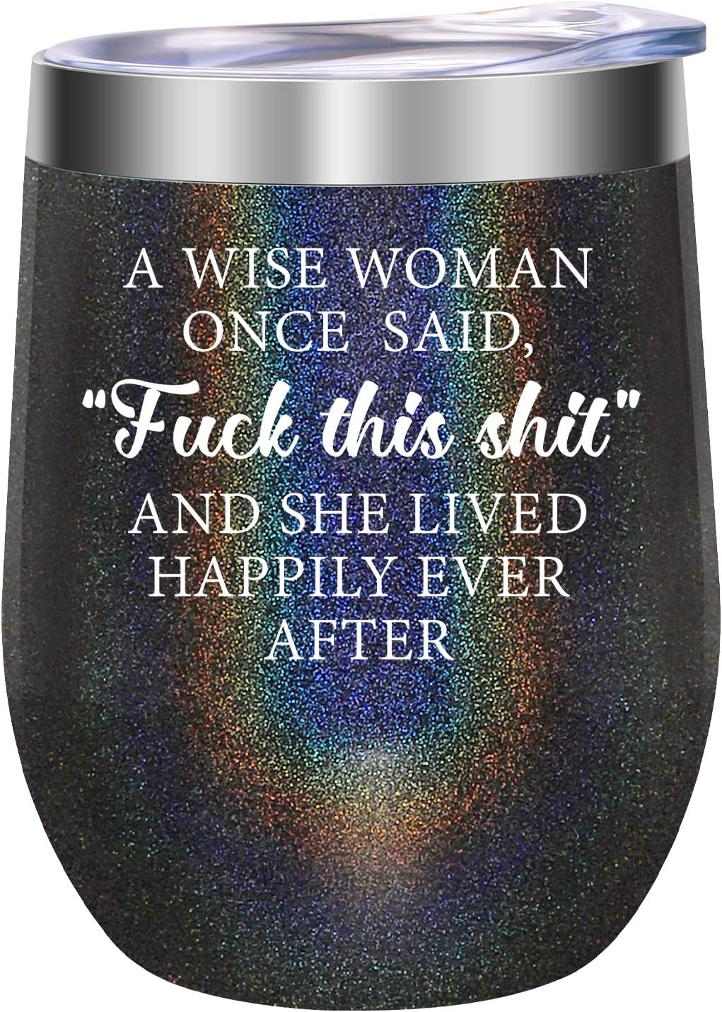 Gifts for Women - A Wise Woman Once Said - Funny Birthday, Retirement, Friendship, Christmas Gifts for Women, Best Friends, Coworkers, Wife, Mom, Grandma, Sister, Aunt, Boss, Her - LEADO Wine Tumbler
