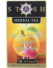 Stash Tea, TEA,HRB,SUNNY ORANGE GNGR, 6 Pack