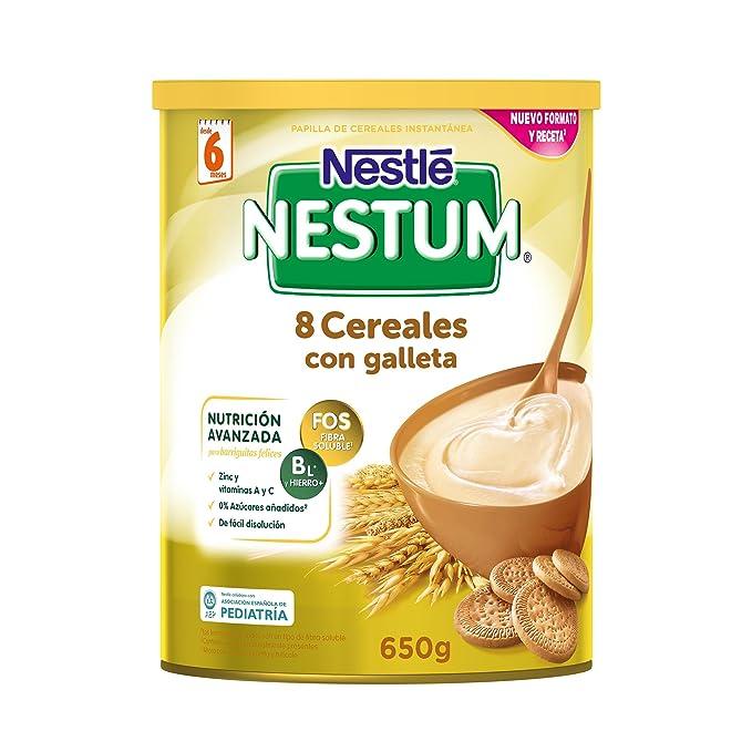Nestlé Papillas NESTUM, Cereales para bebé - Con galleta, 3 de 650 gr -