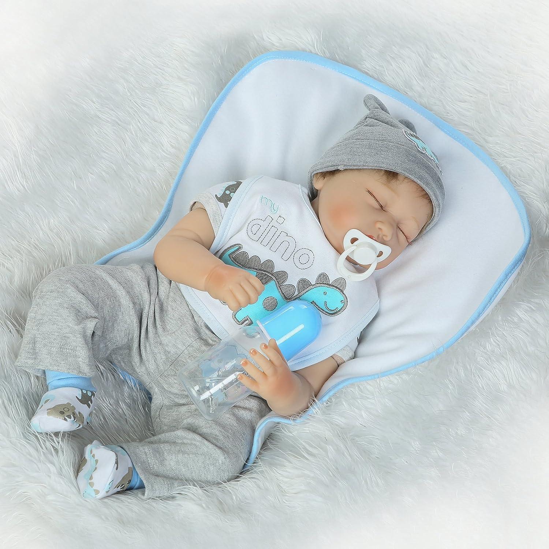 Amazon.com: Muñeca de bebé reborn de 21.7 in de vinilo suave ...