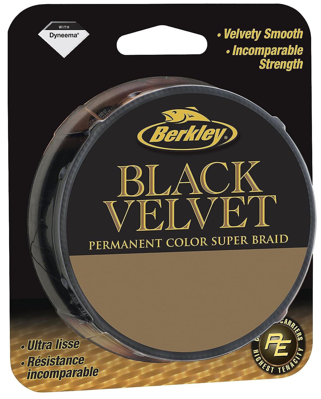 Berkley Black Velvet 110m 0,30mm 44,10kg Schnur geflochtene Schnur Schn/üre Braid Line Angelsehne Angelschnur