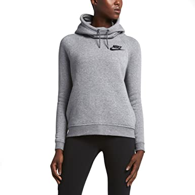 026065e24 Image Unavailable. Image not available for. Colour: Nike Sportswear Womens  Funnel Neck Hoodie ...