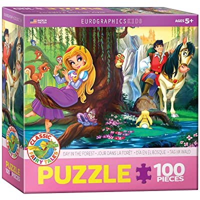 EuroGraphics Day in the Forest Jigsaw Puzzle (100-Piece): Toys & Games