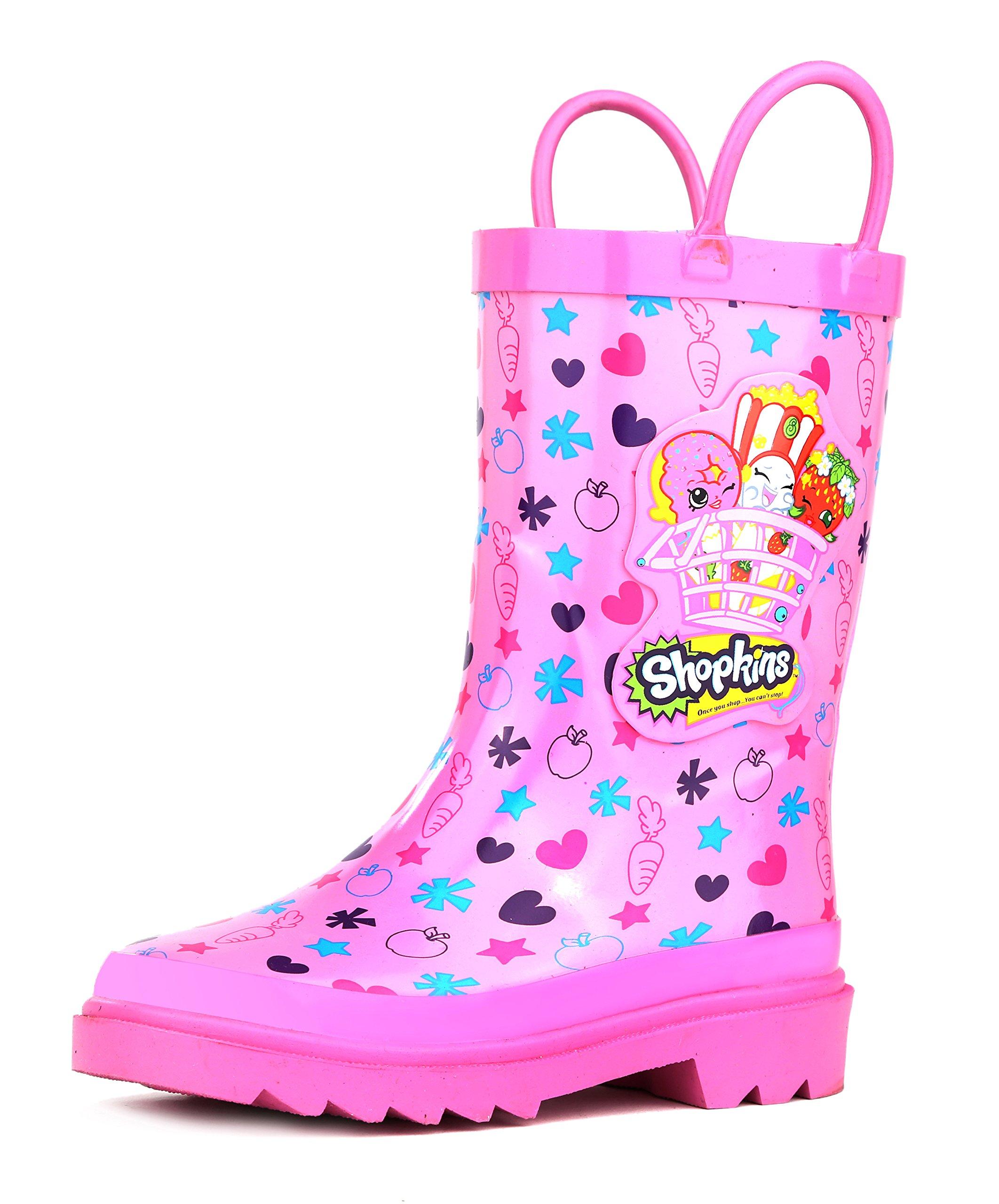 Shopkins Girl's Pink Rain Boots - Size 11 Little Kid